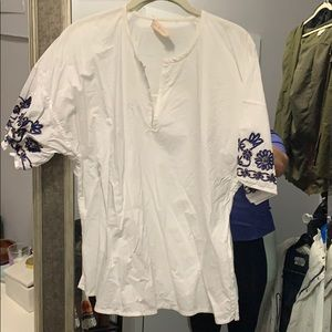 Tory Burch top with embellishments on sleeves